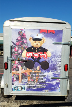 Custom Toys For Tots Trailer Wrap