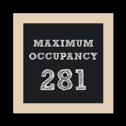 Maximum Occupancy Chalkboard Style Sign