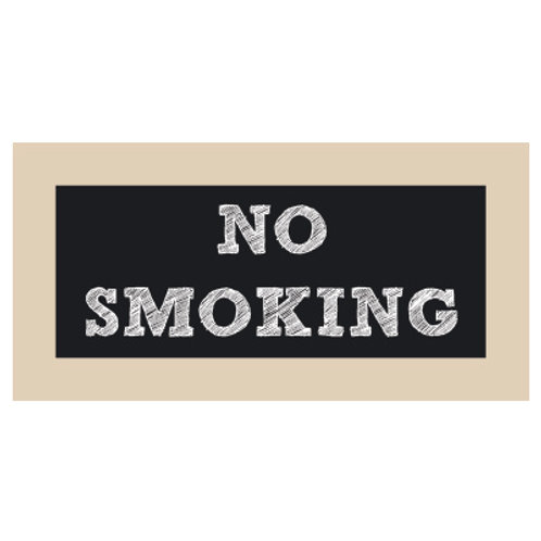 No Smoking Chalkboard Style Sign