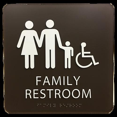 Brailltac Family Restroom Sign