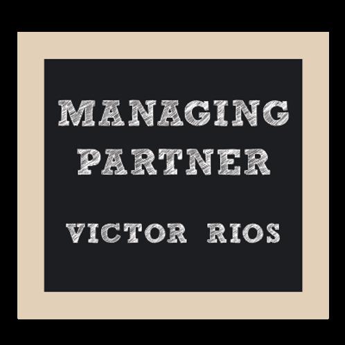 Managing Partner Chalkboard Style Sign