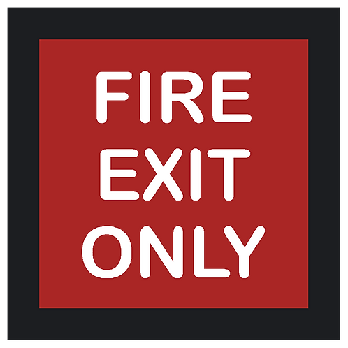 Decal - Fire Exit Only