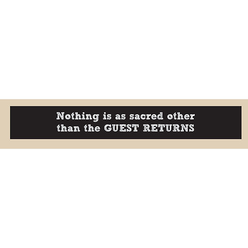 Norman Brinker Quote - Double Sided Sign