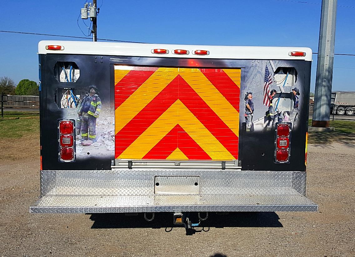 Custom Service Truck Wrap