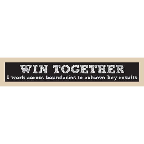 Win Together Sign