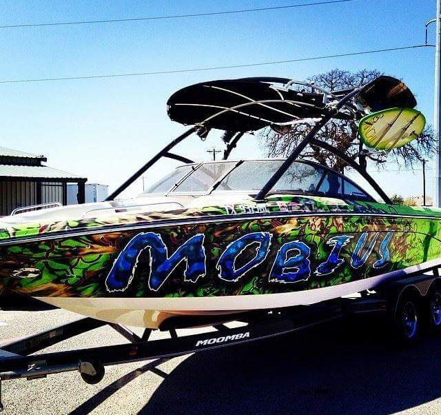 Custom Boat Wrap