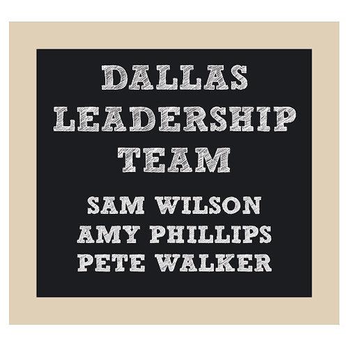 Leadership Team Chalkboard Style Sign