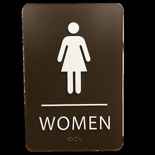 Brailltac Women Restroom Sign