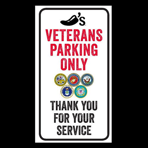 Veterans Parking Only Sign