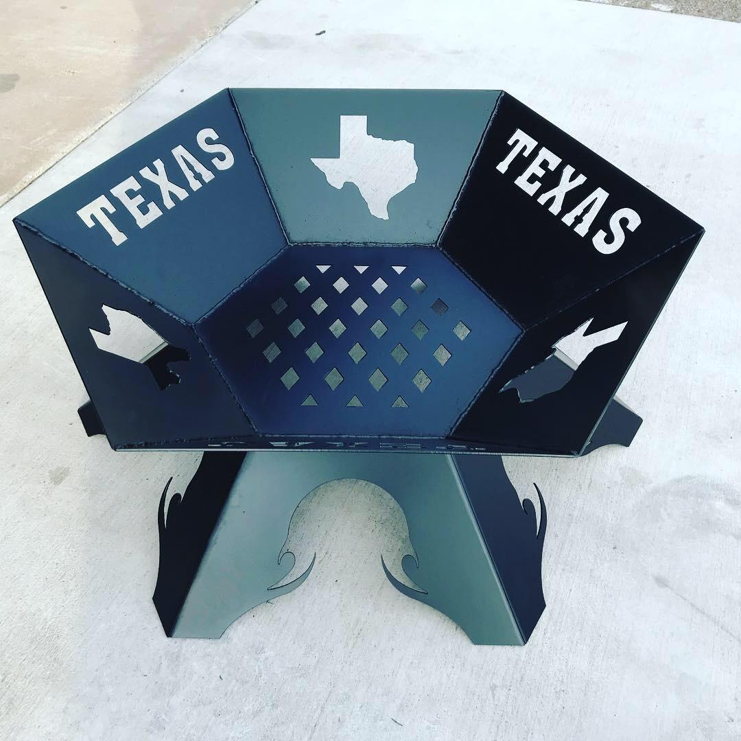 Custom Steel Texas Fire Pit
