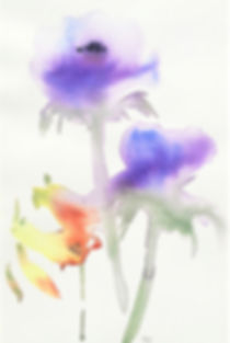 """Early Spring"", Watercolor on Archival Paper, 7.5"" x 11"", On Display at Benecia Arts in December"