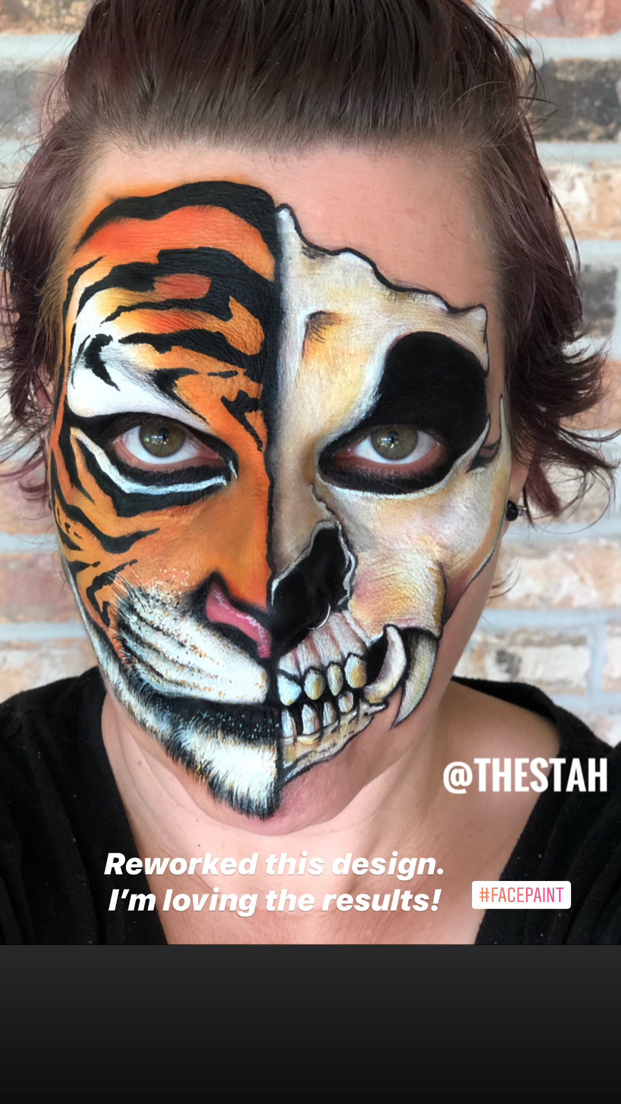 Tiger Skull Face Painting Lafayette La