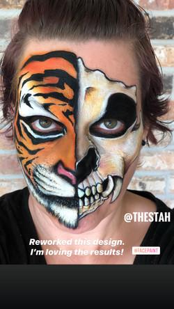 Tiger Skull Face Painting Lafayette La