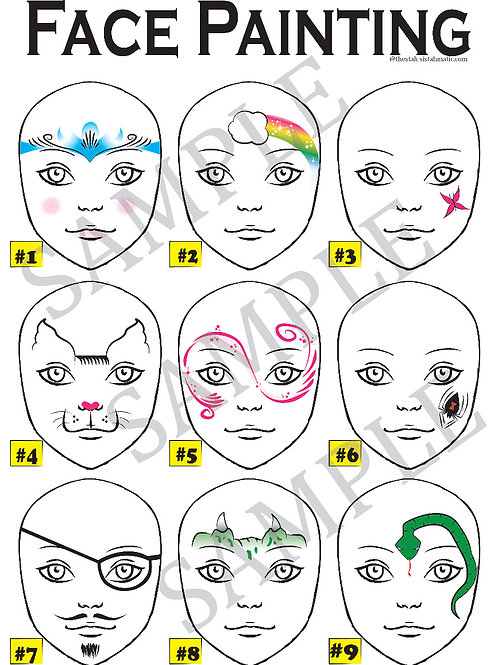 Simple Face Painting Board