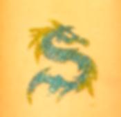 Glitter Dolphin Tattoo