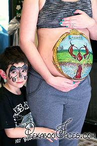 Pregnant Belly Painting Lafayette la