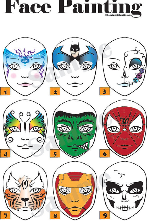 Deluxe Face Painting Board