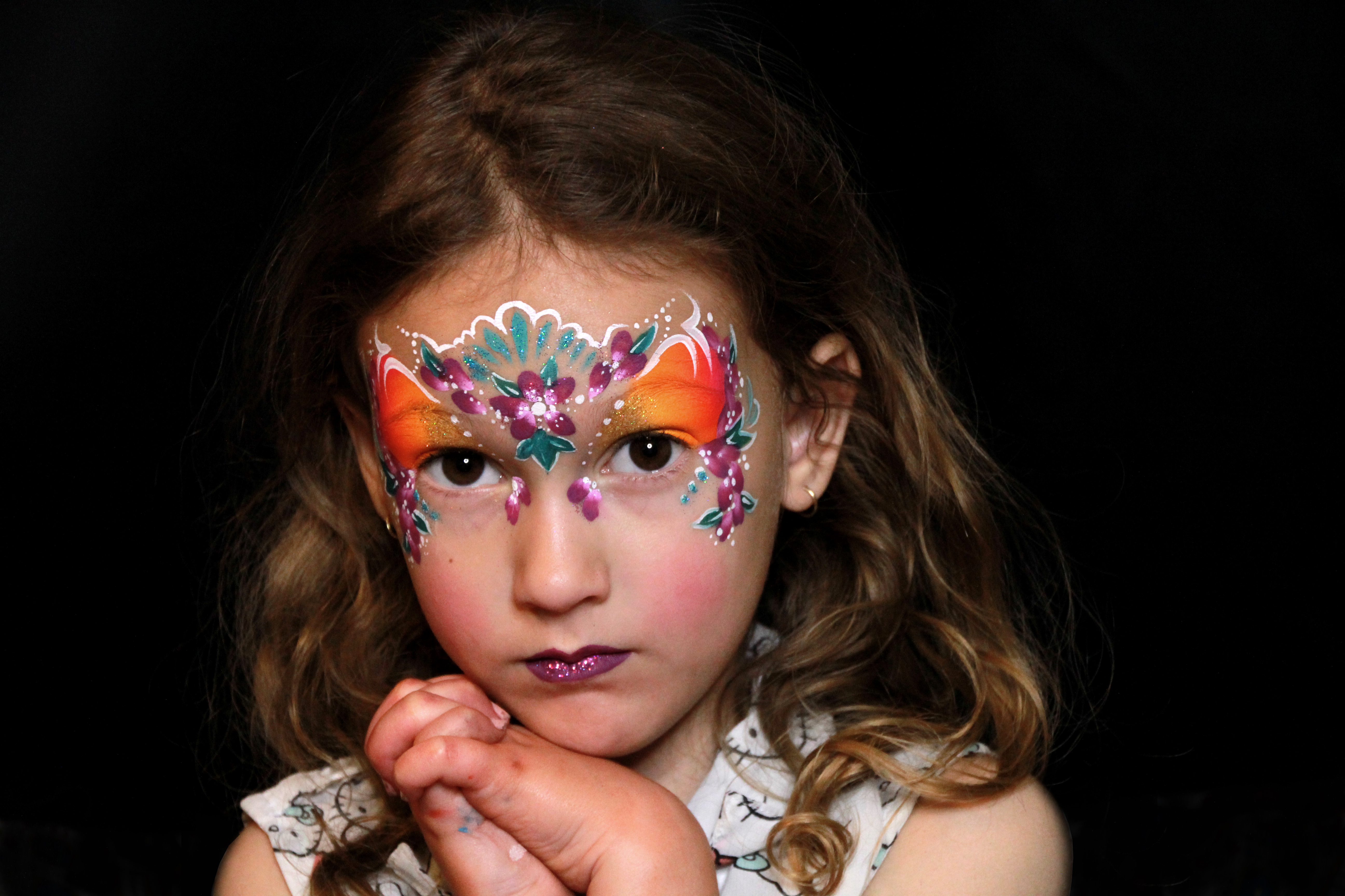 Princess Crown Face Painting