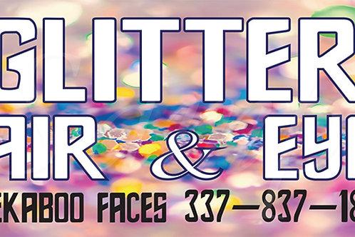 Glitter Hair Banner 2'x8'