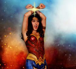Wonder Woman Body Painting Lafayette La