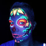 Black Light Face Painting Makeup Artist Stacey Perry