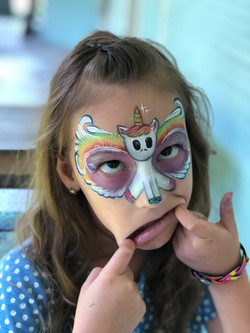 Unicorn Mask Face Painting Lafayette La