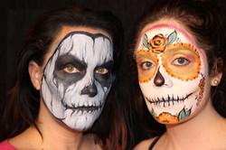 Skull and Sugar Skull Face Paint