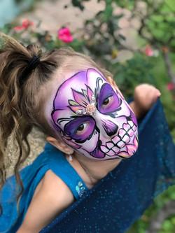 Sugar Skull Face Painting Lafayette La
