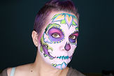 Sugar Skull Face Painting Makeup Artist Stacey Perry