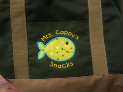 Embroidered Bag with Applique'