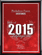 Best of 2015 Lafayette Entertainers. Peekaboo Faces