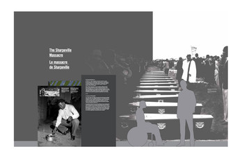 Concept art showing a story panel placement against a mural.