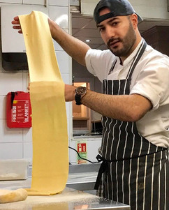 Chef making our delicious pasta