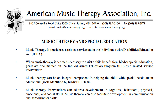 Amta Loves Mts In Sped Music Therapy Joy