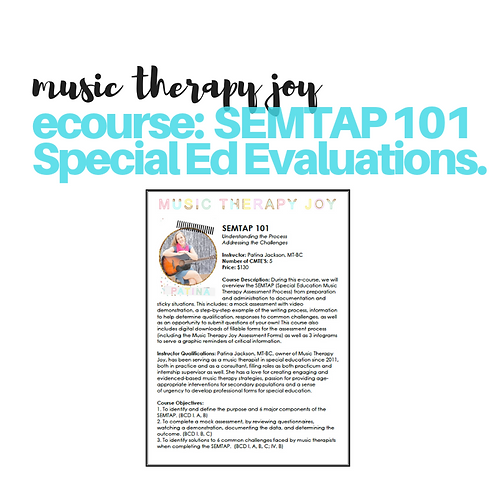 eCourse: Special Ed Evaluations - SEMTAP 101 // 5 CMTES