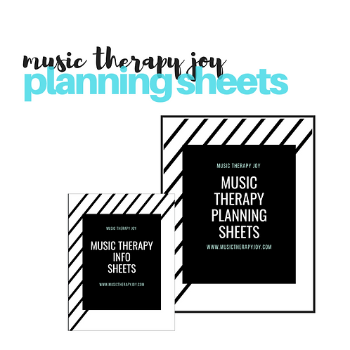 Music Therapy Planning Sheets