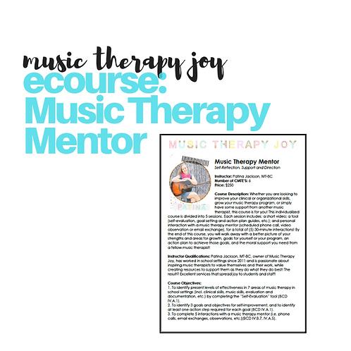 eCourse: Music Therapy Mentor // 6 CMTES