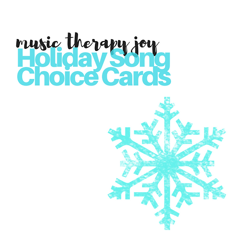 Holiday Song Choice Cards