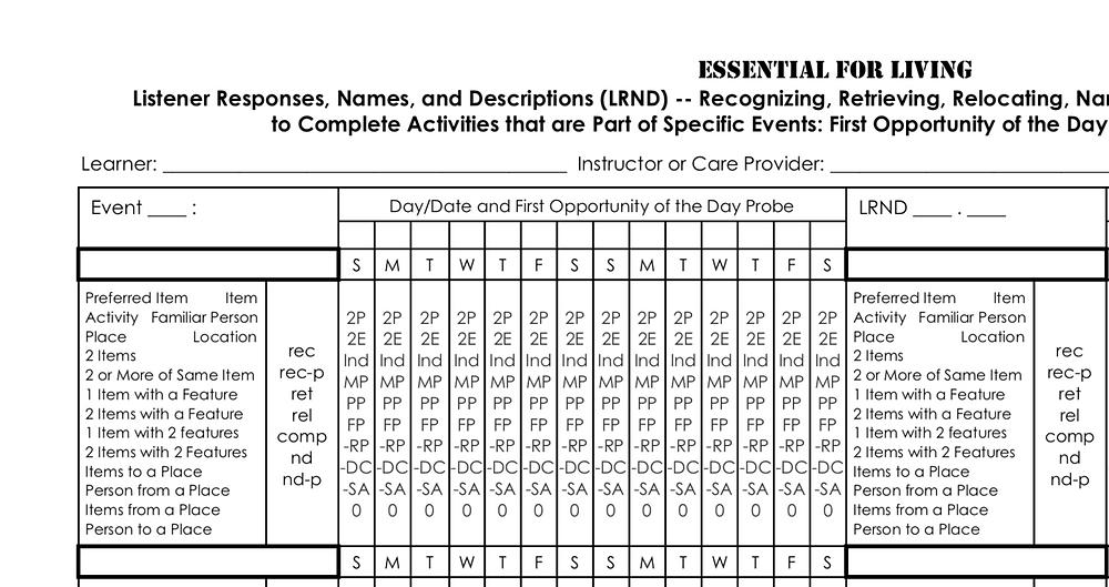 Essential for Living data sheet