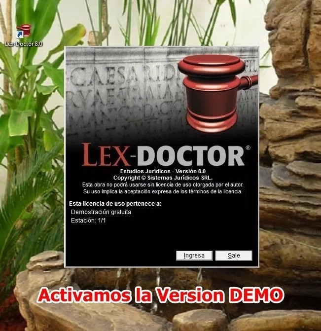 Lex Doctor 8  Activamos la Version DEMO a Version final chavez computacion