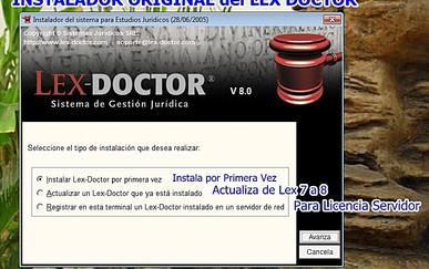 Lex Doctor 8 Instalador Original CHAVEZ Computacion