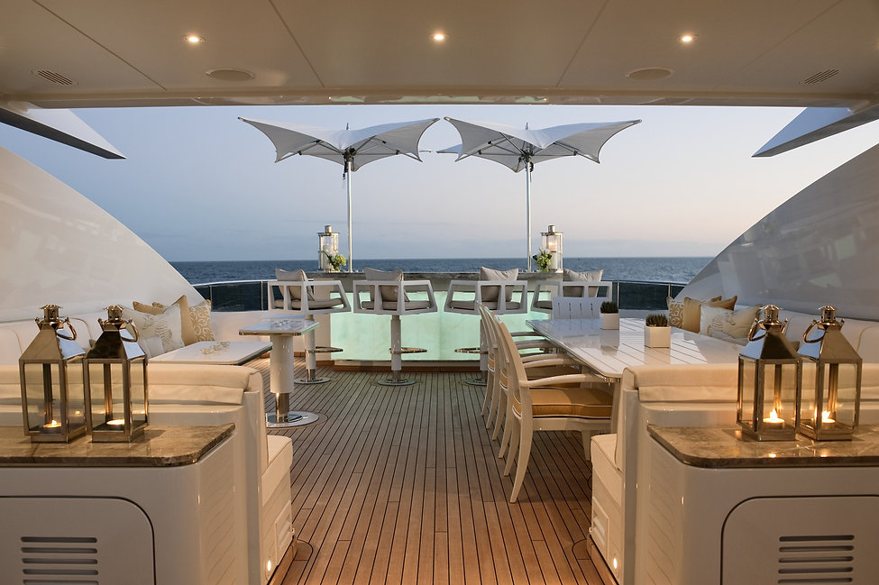 luxury outdoor furniture for yachts in monaco