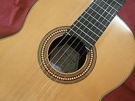 Guitarra de abeto y palo santo.