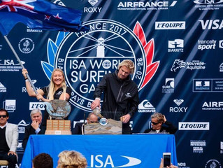 Ella competes at ISA World Surfing Games in France!