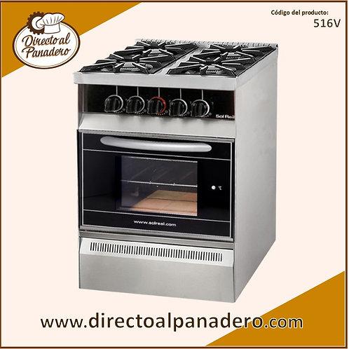 Cocina Mini 4 Hornallas Puerta Vidrio