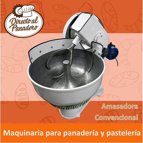 Amasadora Convencional 80 Kg. (50 Kg. harina) Con Mando FUNDICION