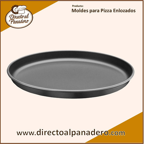 Molde Chapa Enlozada  p/Pizza 34 cm