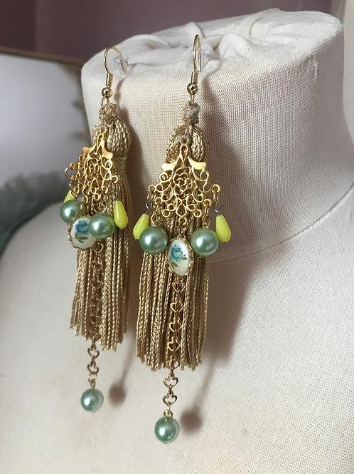 Golden Tree Earrings