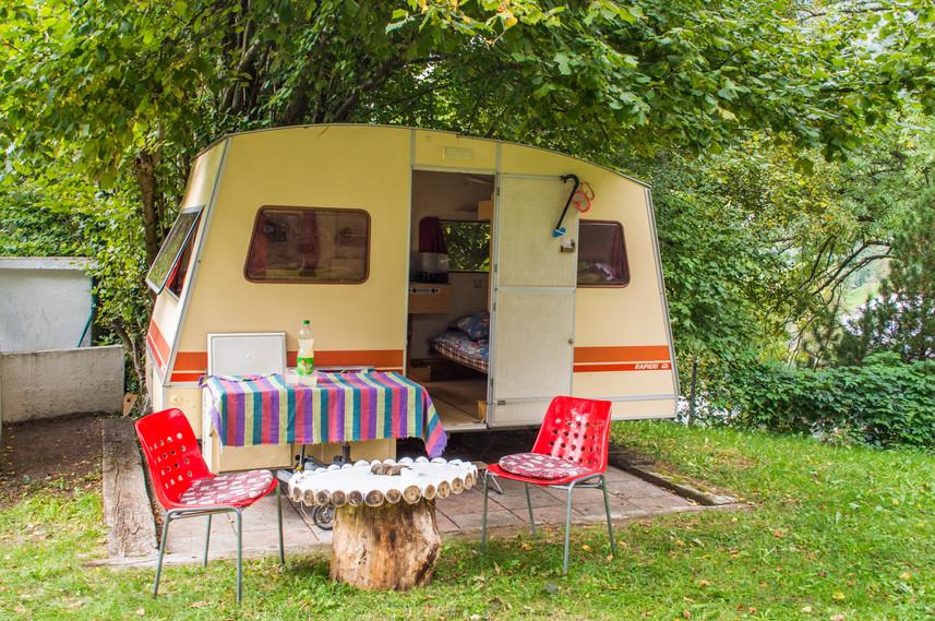 bed and breakfast in caravan