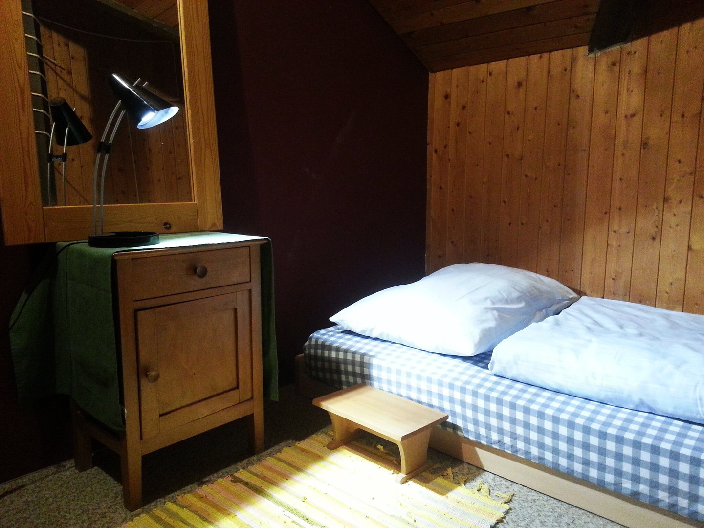 swiss hostel bedroom